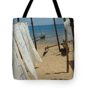 Native Beach Scene Tote Bag