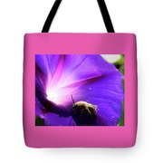 Native Bee On A Purple Flower Tote Bag