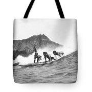 Native Hawaiians Surfing Tote Bag