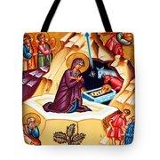 Nativity At Shepherd Field Tote Bag