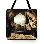 Nativity By Lorenzo Costa Tote Bag