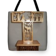 Nativity Cross  Tote Bag