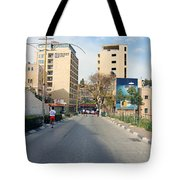 Nativity Street Tote Bag