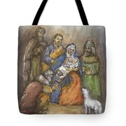 Nativity Tote Bag by Walter Lynn Mosley