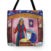 Nativity With Angels Tote Bag