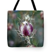 Natural Background With Purple Spiky Bulbs. Tote Bag