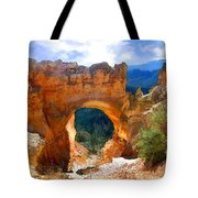 Natural Bridge Arch In Bryce Canyon National Park Tote Bag
