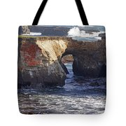 Natural Bridge At Point Arena Tote Bag