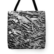 Natural Geometry Black And White Tote Bag