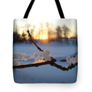 Natural Ice Animals In Winter Tote Bag
