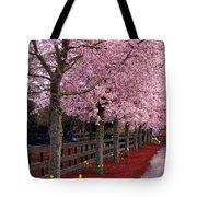 Nature - Pink Trees Tote Bag