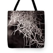 Nature Abstract  Black And White Tote Bag