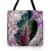 Nature Abstract Of Leaf And Grass Tote Bag