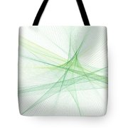 Nature Computer Graphic Line Pattern Tote Bag