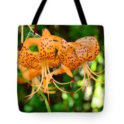 Nature Floral Orange Tiger Lily Flowers Baslee Troutman Tote Bag