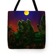 Nature In Full Moon  Tote Bag