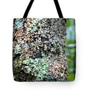 Nature Painted Tree Bark Tote Bag