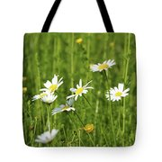 Nature Spring Scene White Wild Flowers Tote Bag