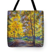 Nature Trail Turn Of Autumn Tote Bag by Fiona Craig