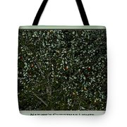 Nature's Christmas Lights Tote Bag