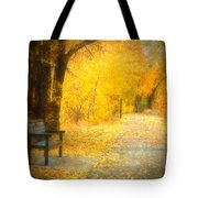 Nature's Golden Corridor Tote Bag