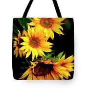 Natures Sunflower Bouquet Tote Bag