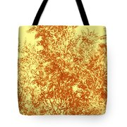 Natures Trees In Brown And Yellow Tote Bag