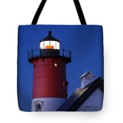 Nauset Lighthouse Night Tote Bag
