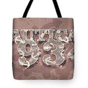 Nautical 1934 Tote Bag