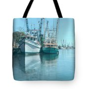 Nautical Aquas At The Harbor Tote Bag
