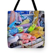 Nautical Riot Of Color Tote Bag