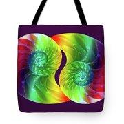 Nautilus Rainbow Tote Bag