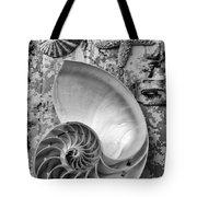 Nautilus Shell With Starfish Tote Bag
