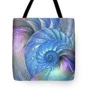 Nautilus Shells Blue And Purple Tote Bag