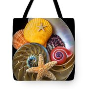 Nautilus With Sea Shells Tote Bag