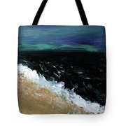 Navy Blue Ocean Tote Bag