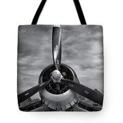 Navy Corsair Propeller Tote Bag