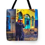Navy In Blue Tote Bag