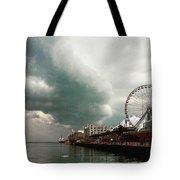 Navy Pier Overcast Tote Bag