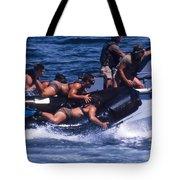 Navy Seals Practice High Speed Boat Tote Bag