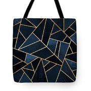 Navy Stone Tote Bag