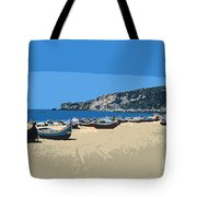 Nazara Beach 4 Tote Bag