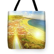 Nazare Skyline Sunset Tote Bag
