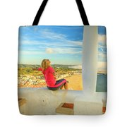Nazare Viewpoint Woman Tote Bag