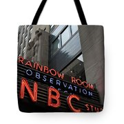Nbc Studio Rainbow Room Sign Tote Bag