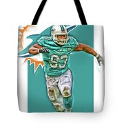 Ndamukong Suh Miami Dolphins Oil Art Tote Bag