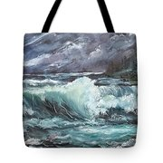 New England Coastline Tote Bag