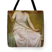 Neaera Reading A Letter From Catullus Tote Bag by Henry John Hudson