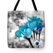 Near Bloom Blue Tote Bag