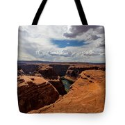 Near The Edge Tote Bag